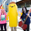 Princess Bubblegum, Banana Guard, Marceline, and BMO