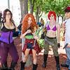 Megara, Merida, Ariel, and Prince Eric