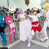 Dragon Ryuho, Andromeda Shun, Athena, Pegasus Koga, and Cygnus Hyoga