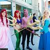 Ariels, Ursula, and Princess Aurora