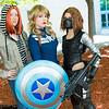 Natasha Romanoff, Captain America, and Winter Soldier