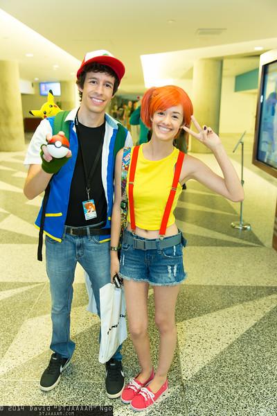 Ash Ketchum, Misty, and Pikachu