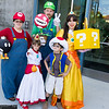 Mario, Princess Peach, Luigi, Toad, and Princess Daisy