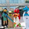 Bert, Kermit the Frog, Ernie, Elmo, and Cookie Monster