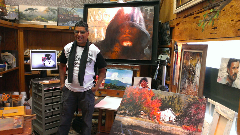 Farian the artist was a huge highlight for me on our Oak Glen tour on Yucaipa day.