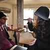 Zara goes in for the taste test on Idylwild Bakery's apple pie.