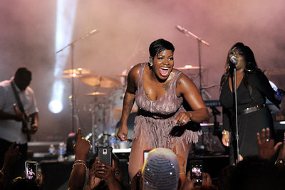 Fantasia perform live at the Dell Music Center on July 31, 2015 in Philadelphia, PA