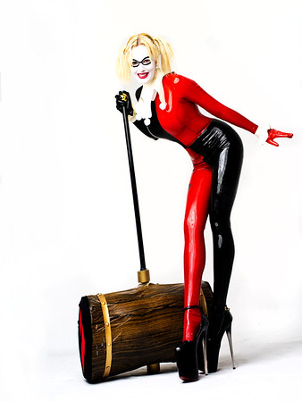 Lady Jaded in latex made by Warped Photography