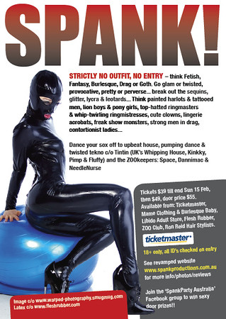 "One of my shots used on the reverse of the Flyer for the Spank Fetish Ball - Circus Beserk in Feb 09.<br />  <a href=""http://www.spankproductions.com.au/?p=all"">http://www.spankproductions.com.au/?p=all</a>"
