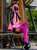 Rubber Bunny - Pretty in Pink : Rubber Bunny looking Pretty in Pink All latex and accessories supplied by Warped Photography.