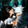 Angel captured by light