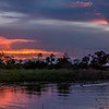 Dusk on the Okavango