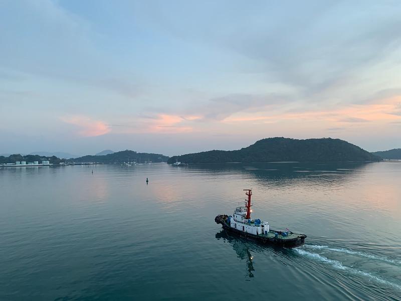 Sailing into Phuket, Thailand