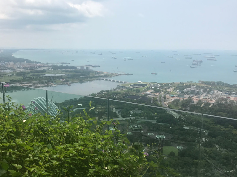 View from Marina Sands Bay hotel