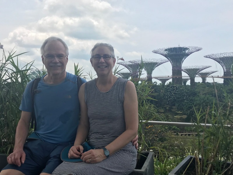Sheldon & Mitzi at Gardens by the Bay Supertree Grove