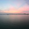 Dawn over cruise port terminal Penang, Malaysia