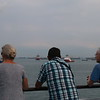 Sheri, Harvey and Sheldon watch us sail away from Singapore, busiest transshipment port in the world.