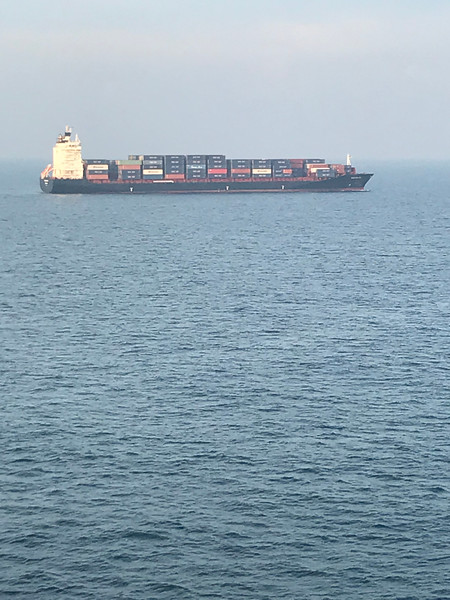 Container Ship in the Strait of Malacca