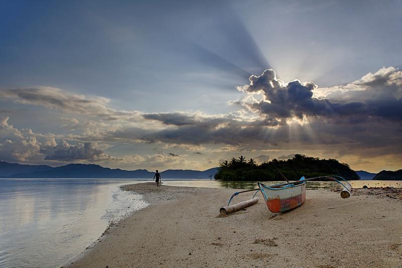 Sunburst over Solo Island