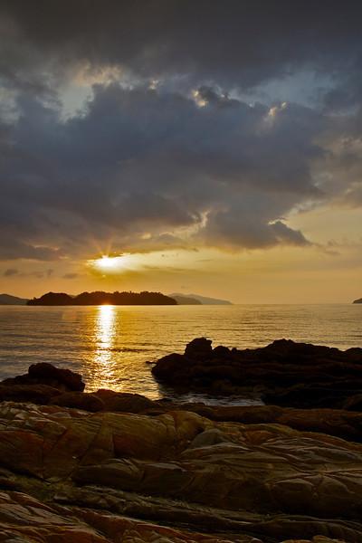 Sunset over German Island