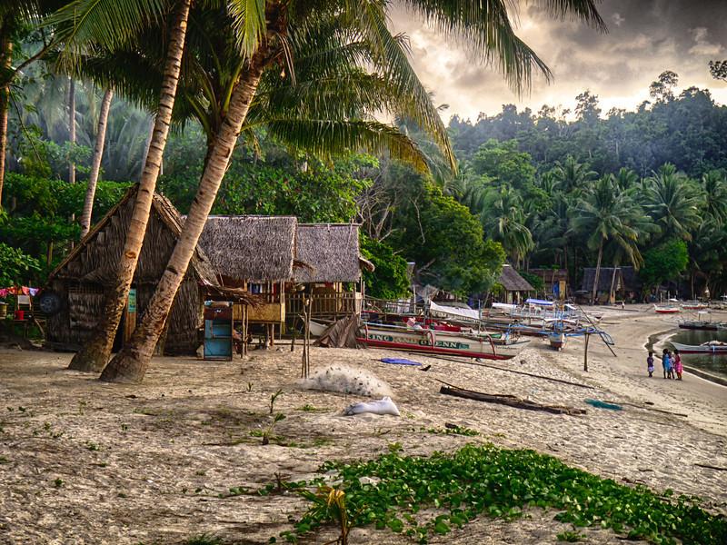 Jungle fishing village