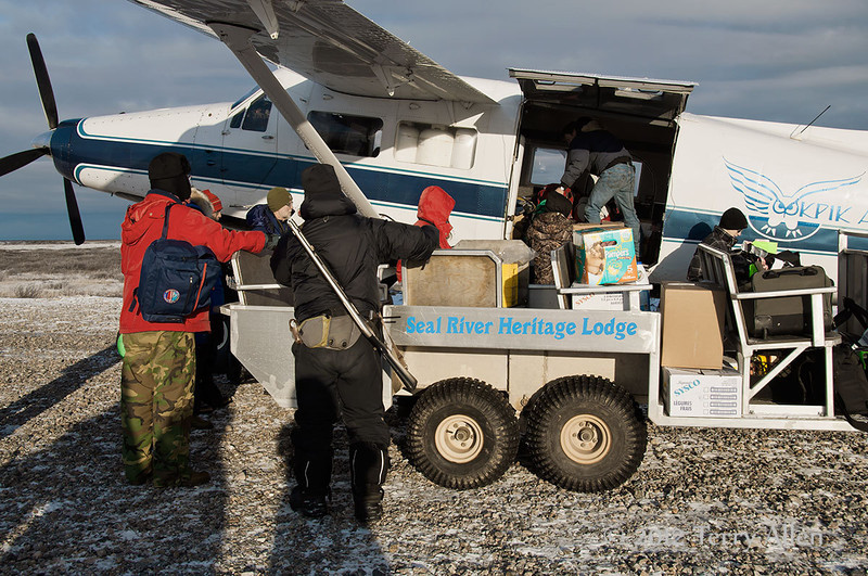 Ookpik air arriving at Seal River