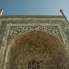Inlaid marble entranceway