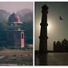 Dome on the corner of Mehtab Bagh (Moonlight Garden) - Taj Mahal Minaret