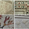 Some of the inlaid marble and embossed designs at the entrance.