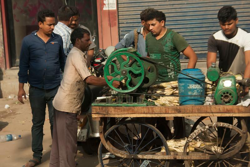 Sugar Cane drink street vendor