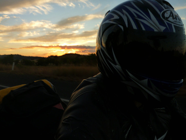 FarRide East 15 - Sun setting on the New England highway