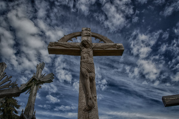 Deep blue crucifiction- Hill of Crosses