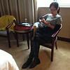 周六一大早,湘薇同学穿戴整齐
