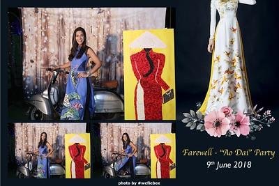 """Farewell - """"Ao Dai"""" Party - Photobooth Saigon"""