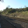 Video of train arriving at Brading and use  of the westing house brake