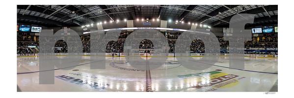 "This is a 12""X36"" Panoramic of The Scheels Arena. That is from the white border to the White border! It will not print with the Watermark across the image but it will say ""///MJOYPHOTOGRAPHY"" in the bottom right hand corner."