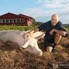 Peter Singer at Farm Sanctuary in Watkins Glen, NY August 2006