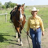 Rancher with her horse