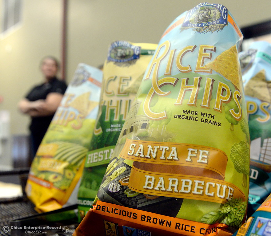 . Chips are available for guests to try during a stop at Lundberg Family Farms during the 2017 Farm City Bus Tour Wednesday Nov. 8, 2017. (Bill Husa -- Enterprise-Record)