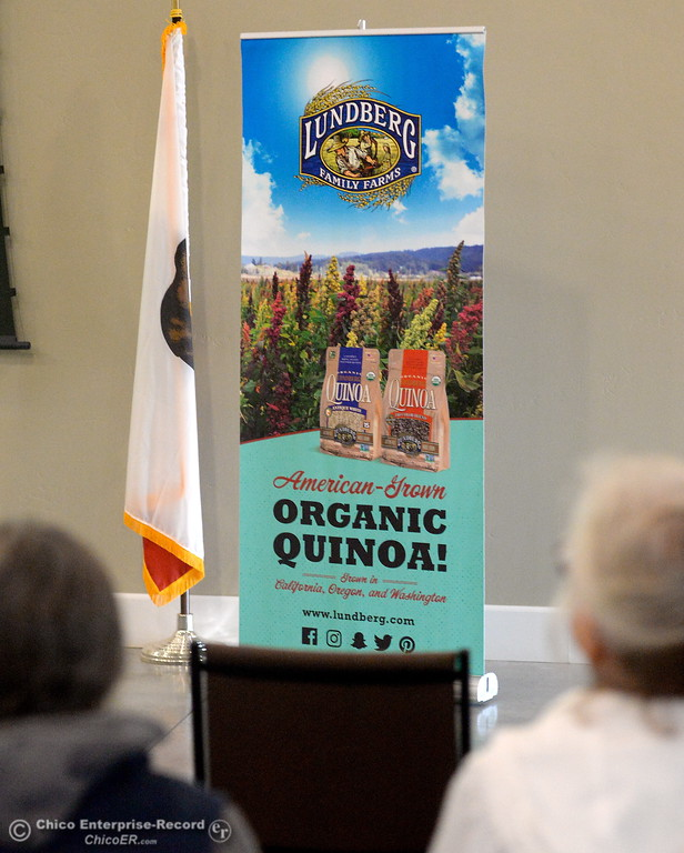 . Organic Quinoa was one of the items discussed during a stop at Lundberg Family Farms during the 2017 Farm City Bus Tour Wednesday Nov. 8, 2017. (Bill Husa -- Enterprise-Record)