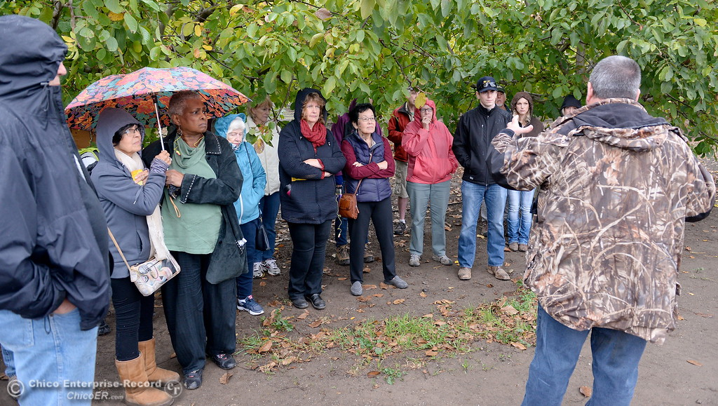 . Greg Sohnrey talks about prunes at Sohnrey Family Foods in Durham, Calif. during the 2017 Farm City Bus Tour Wednesday Nov. 8, 2017. (Bill Husa -- Enterprise-Record)