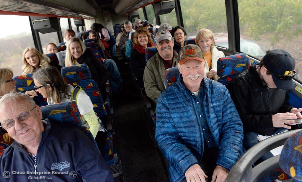 . People smile on bus #4 during the 2017 Farm City Bus Tour Wednesday Nov. 8, 2017. (Bill Husa -- Enterprise-Record)