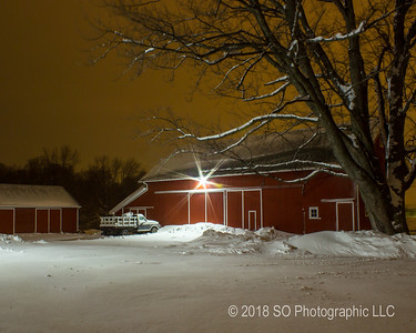 Winter Night in the Barnyard