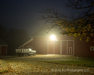 Evening Mist in the Barnyard
