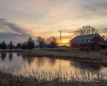 January Sunrise at the Farm