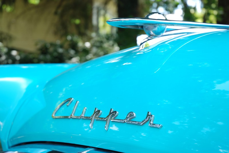 """Car designers are just going to have to come up with an automobile that outlasts the payments.""<br /> ~Erma Bombeck~<br /> <br /> 1955 Packard Clipper"