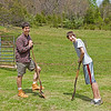 Breaking ground for the apple trees - Spring 2011