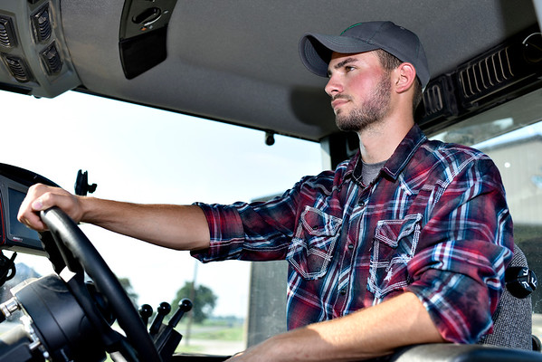 Bryce Buzzard wants to return to his family farm after graduating from college. Charles Mills photo