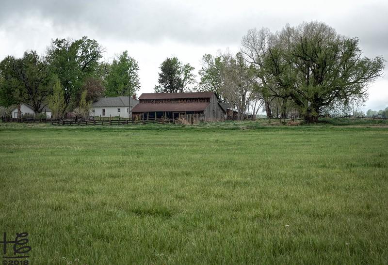 Farm along trail