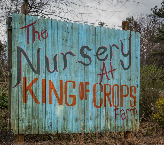 King of Crops sign